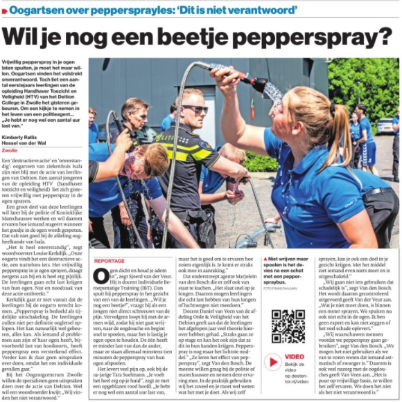 Pepperspray Deltion College Zwolle